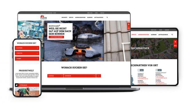 Website der Fleck GmbH aus Datteln, erstellt von Punktmacher GmbH